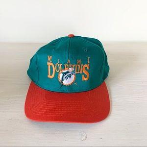 Vintage 90s Team NFL Miami Dolphins snap back cap